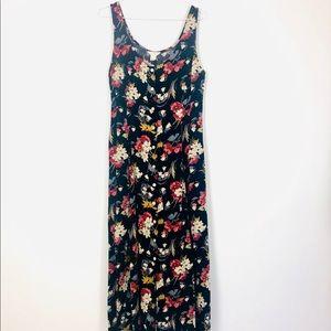 J Crew Sleeveless Button Front Maxi Dress